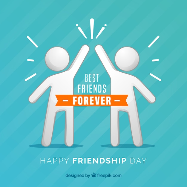 Friendship day background with people Free Vector