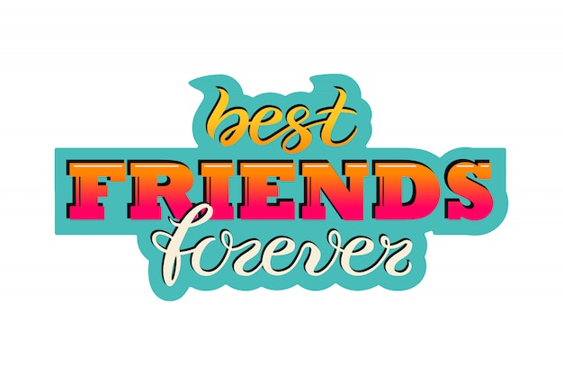 Friendship day greeting card Premium Vector