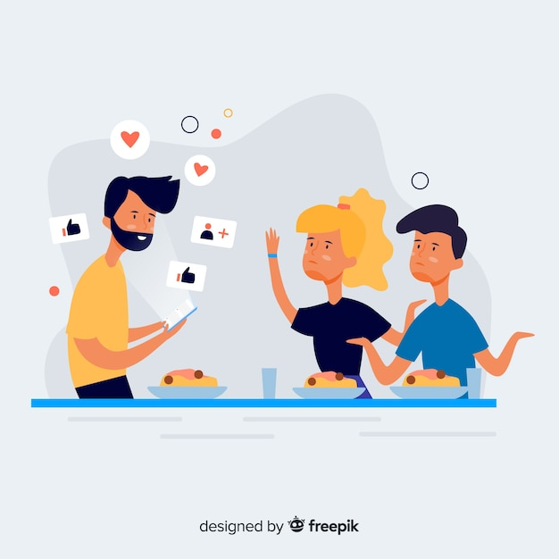 Friendship killed by miscommunication Free Vector
