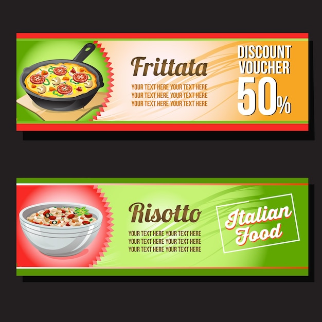 Frittata And Risotto Discount Voucher Template Vector  Premium Download