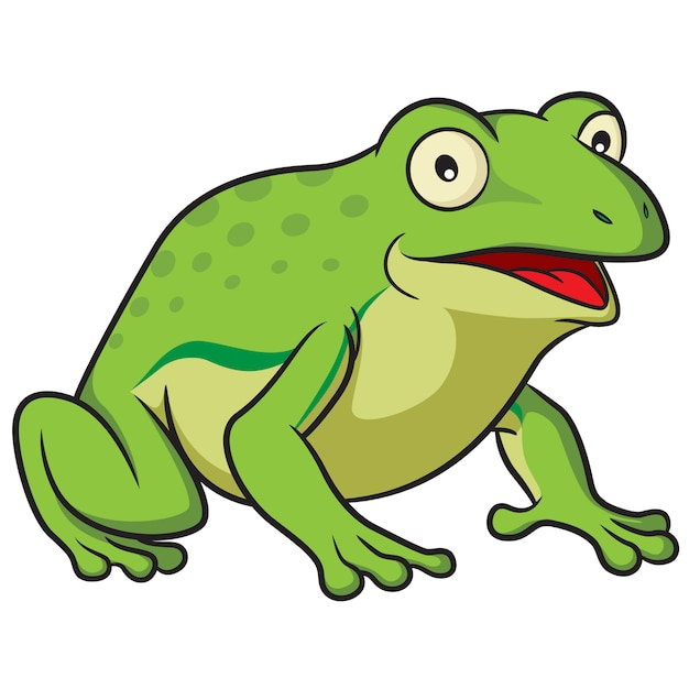 Frog cartoon Premium Vector
