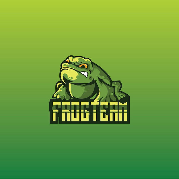 Frog logo gaming esport Premium Vector