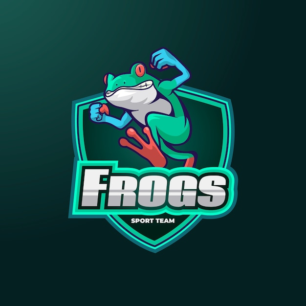 Frogs mascot logo Free Vector