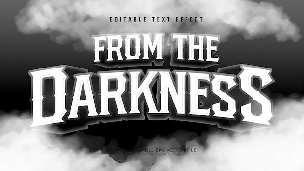 Dall'effetto darkness text Vettore gratuito