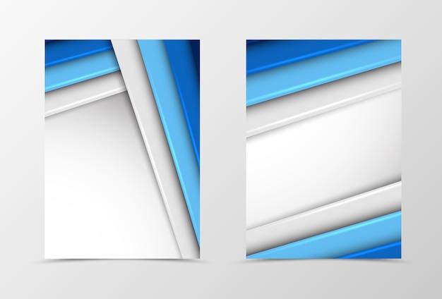 Дизайн шаблона флаера с передним и задним материалом Premium векторы