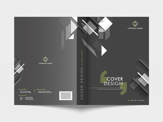 Front and back cover of a business brochure. Premium Vector