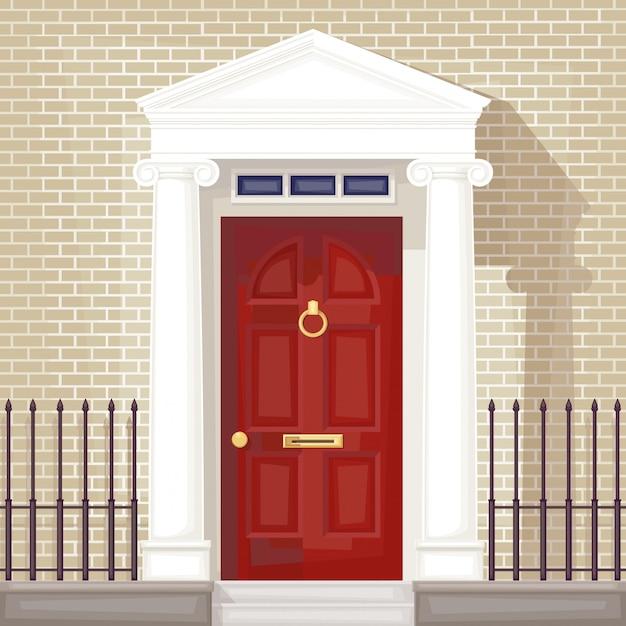 Передняя дверь Premium векторы
