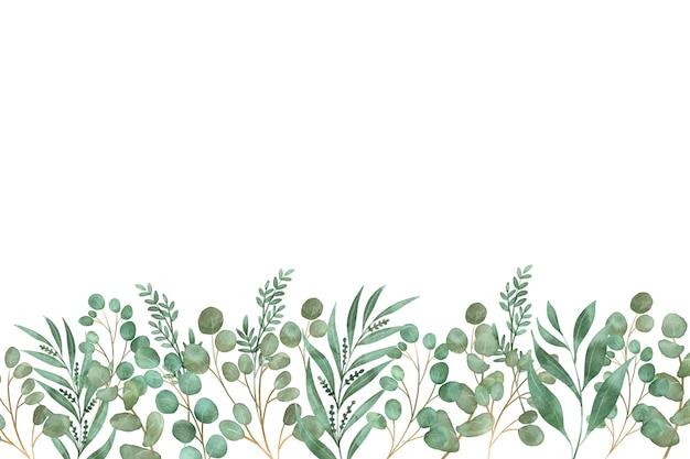 正面図は花と葉 Premiumベクター