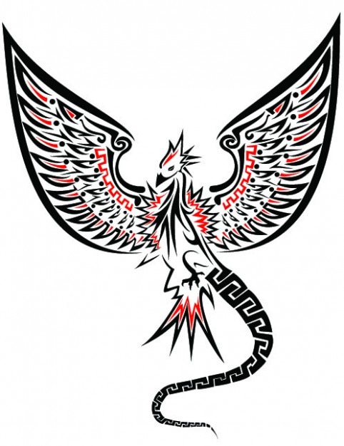 Frontal dragon clipart with extended wings Free Vector