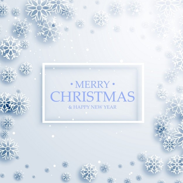 Frozen christmas background Free Vector
