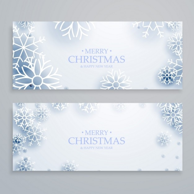 Frozen christmas banners Free Vector