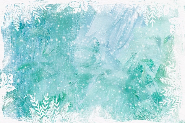 Priorità bassa di inverno dell'acquerello di vetro congelato Vettore gratuito