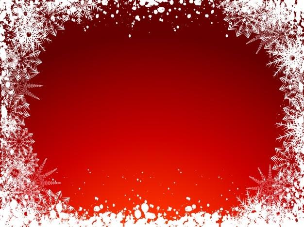 Congelati natale sfondo rosso Vettore gratuito