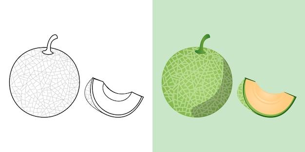 Premium Vector Fruit Coloring Sheet