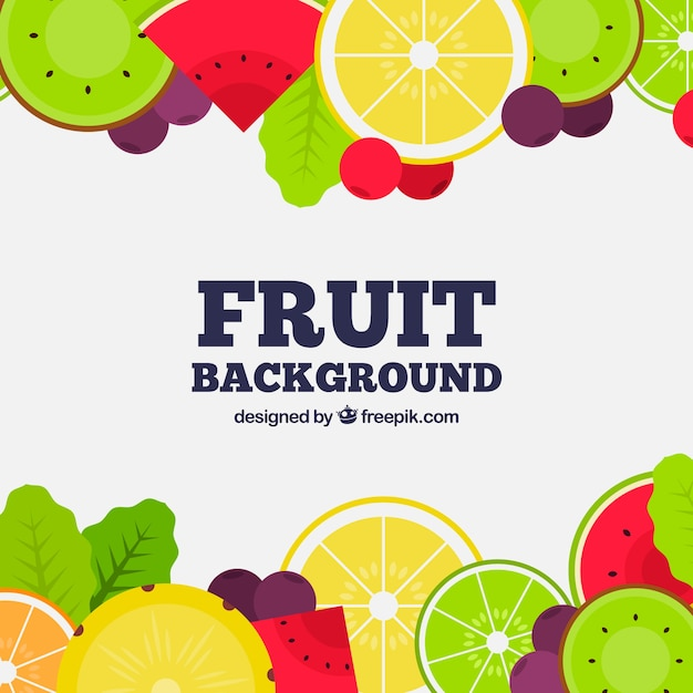 Fruit Frame Background Free Vector