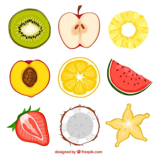 Fruit halves