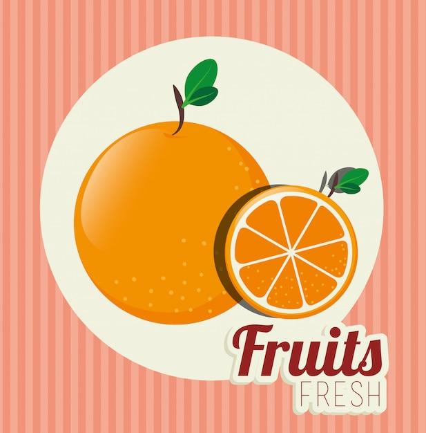 Fruit healthy food illustration Free Vector