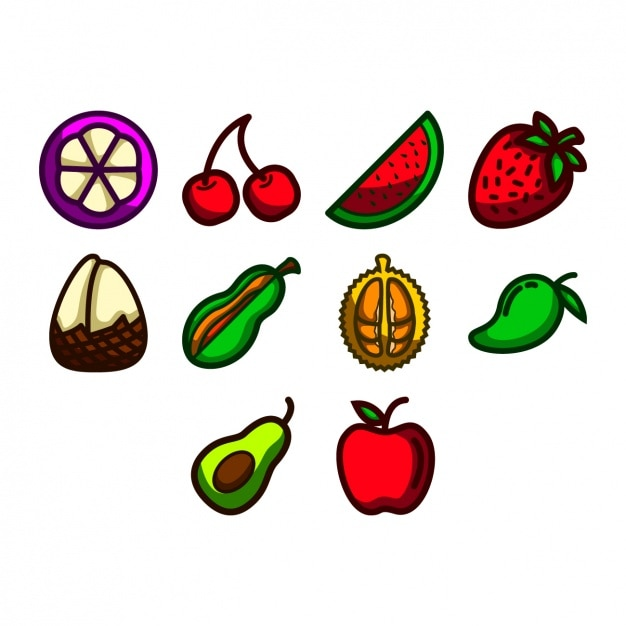 Fruit icons collection