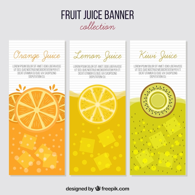 Fruit juice banners