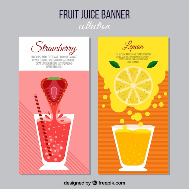 Fruit juice banners