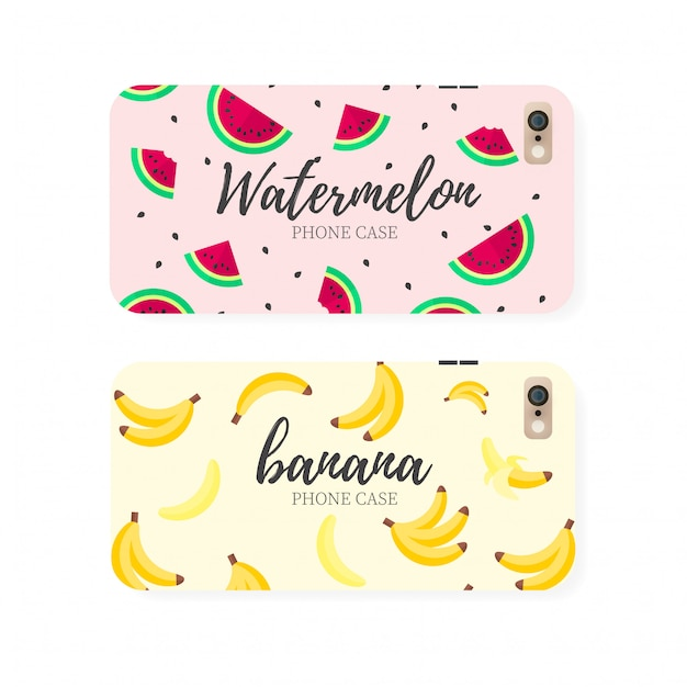 Fruit phone cases Free Vector