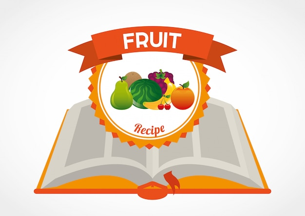 Fruit recipe book Premium Vector