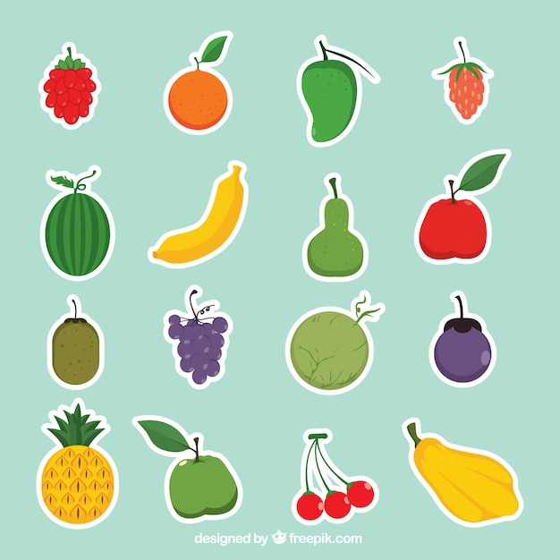 Fruit sticker collection