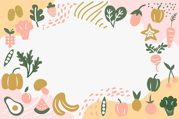 Fruit and vegetables background Premium Vector