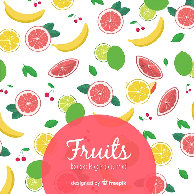 Fruits background Free Vector