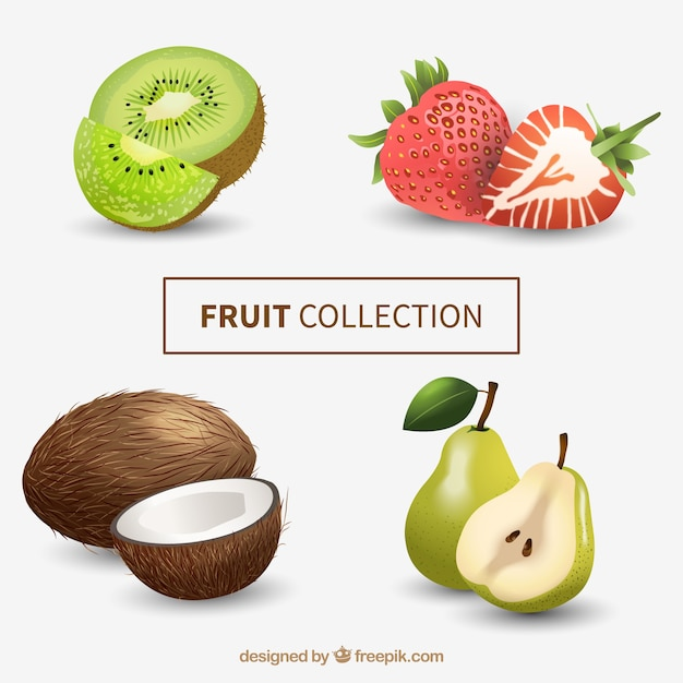 Fruits in realistic style Free Vector