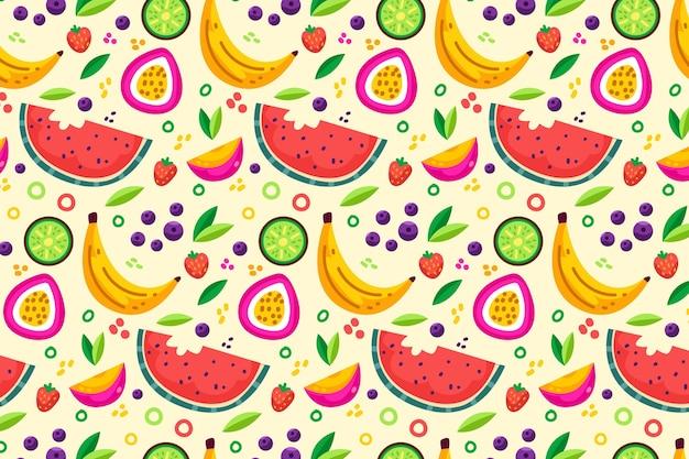Концепция коллекции шаблонов фруктов Бесплатные векторы