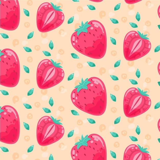 フルーツ柄のコンセプト 無料ベクター