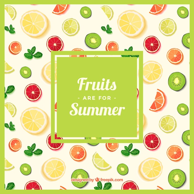 Fruits pattern Premium Vector