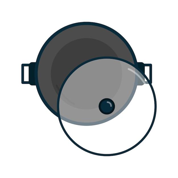 Frying pan cooking utensils graphic Free Vector