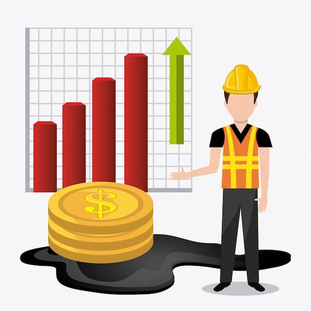 Fuel prices economy design Free Vector