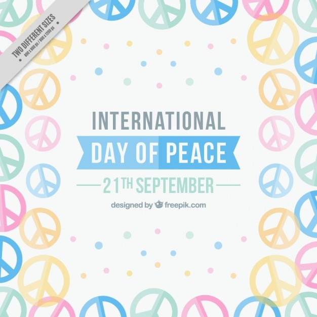 Full Background Of Symbols For The International Day Of Peace Vector