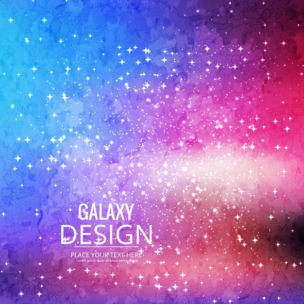 Full color background about the galaxy Free Vector