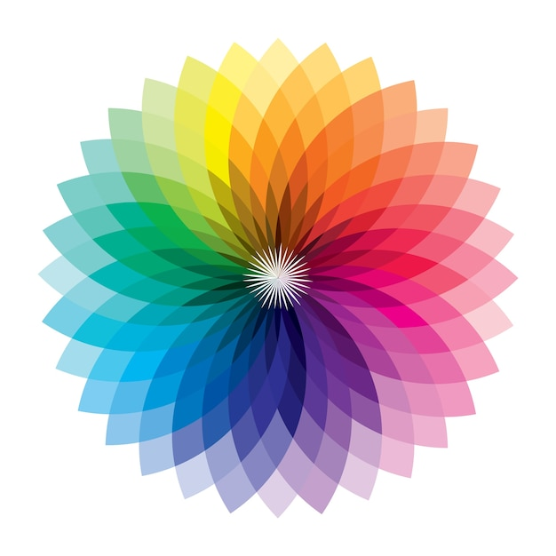 Premium Vector Full Color Geometric Art