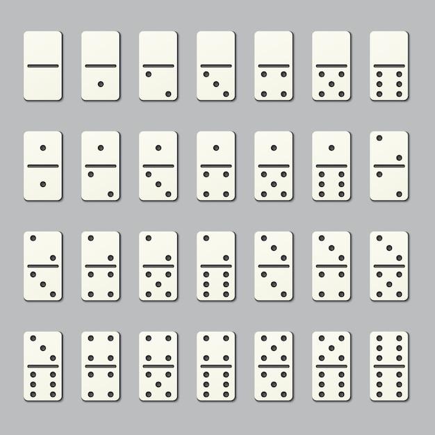 Full domino pieces Premium Vector