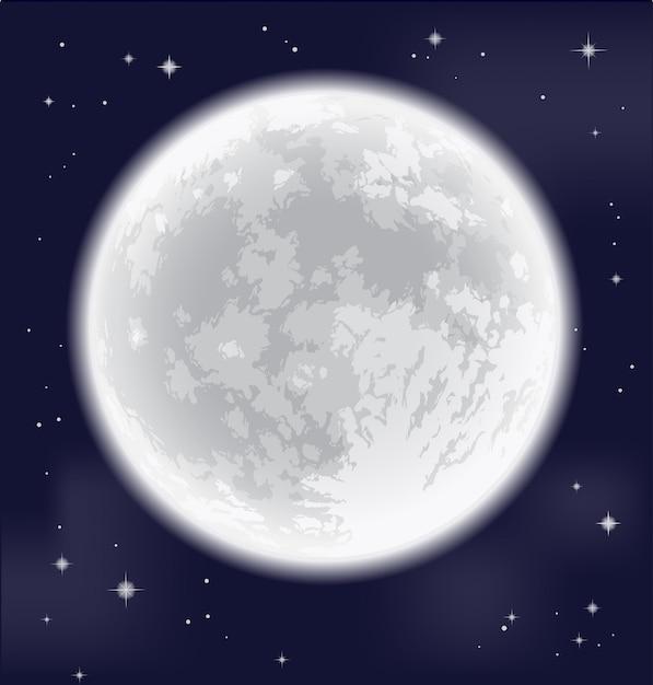 Full moon Premium Vector