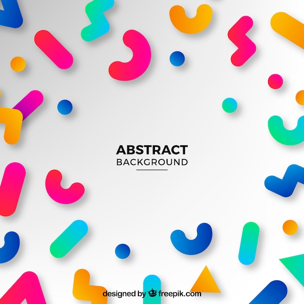 fun background with abstract shapes vector free download