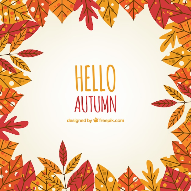 Fun background with autumn leaves