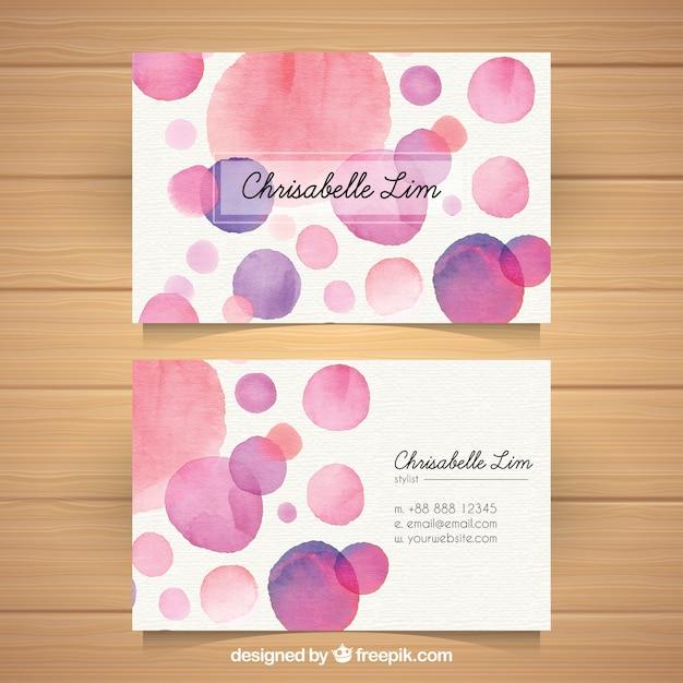 Fun business card with watercolor style vector free download fun business card with watercolor style free vector colourmoves