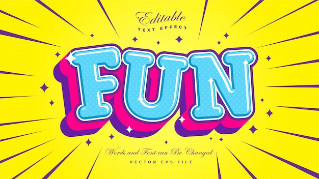 Fun cartoon text effect Free Vector