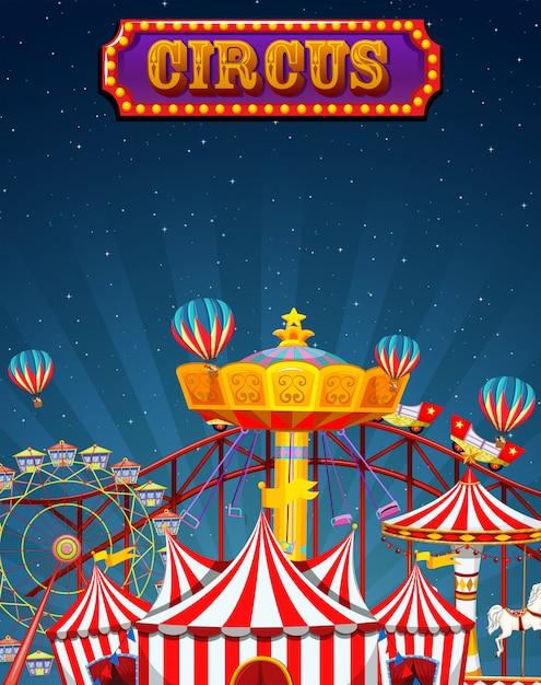 A fun circus template Free Vector
