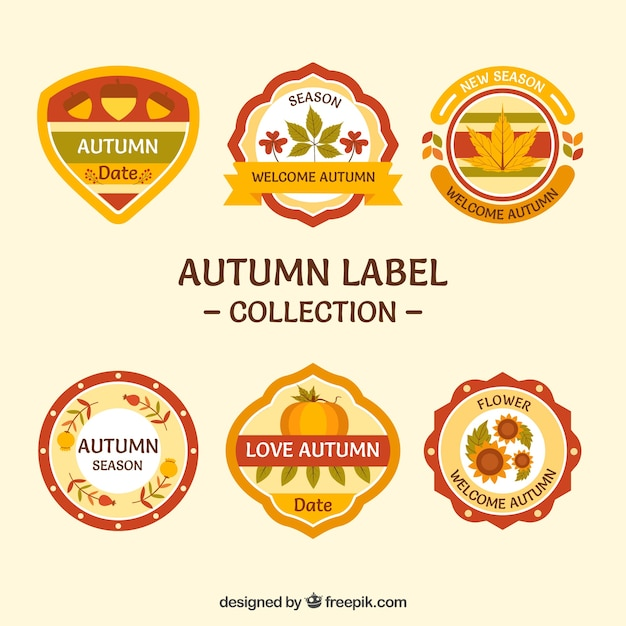 Fun collection of autumn labels