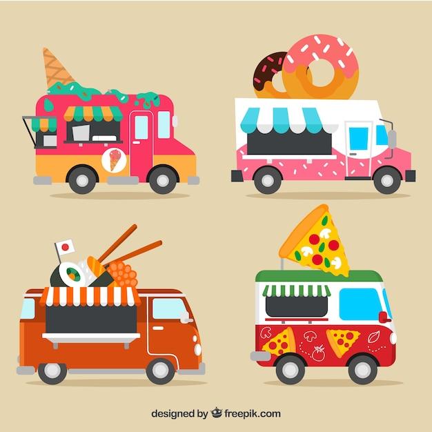 Fun collection of modern food trucks