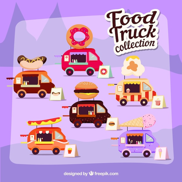 Fun collection of modern food trucks