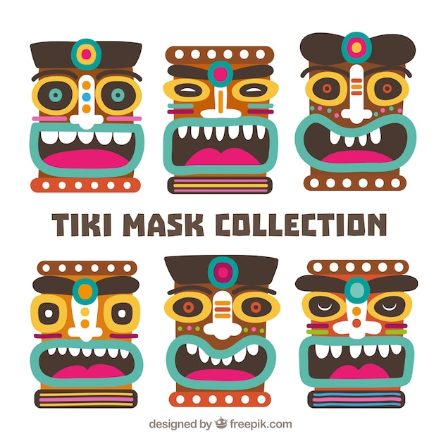 Fun collection of smiley tribal masks