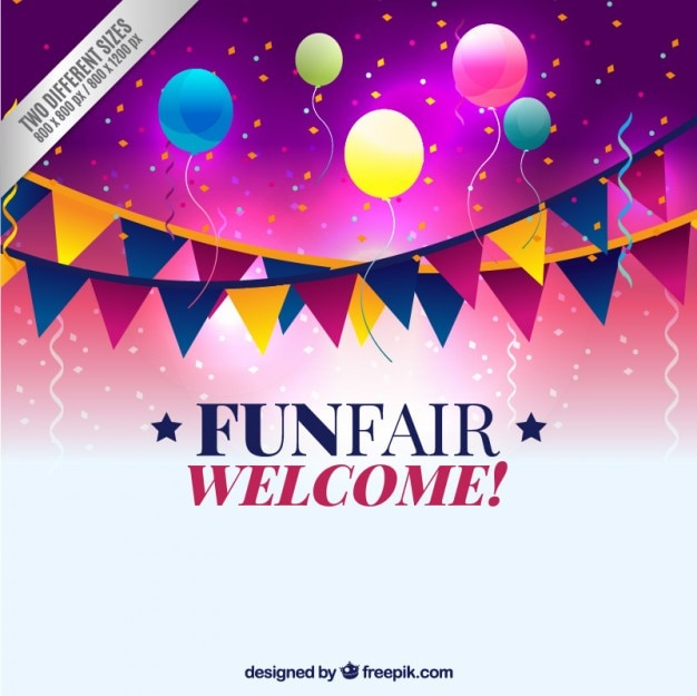 Fun fair background Free Vector